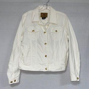 Lauren Jean Co Women's Beige Corduroy Jacket L